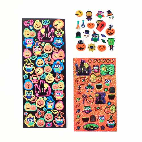 Assorted Halloween Sticker Sheets