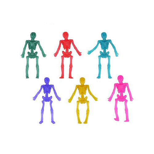 Assorted Halloween Stretchy Skeletons 9cm