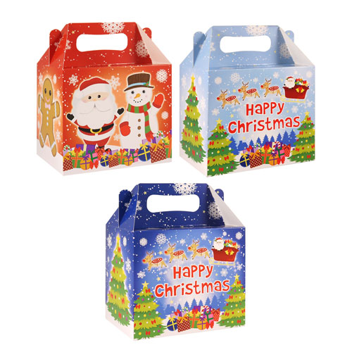 Assorted Happy Christmas Treat Box 14cm Product Image