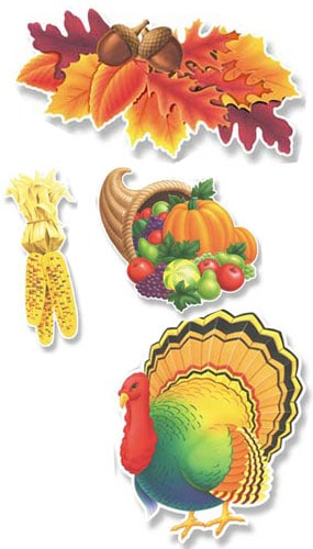 Assorted Happy Thanksgiving Cutouts - 14 Inches / 36cm - Pack of 4 Product Image