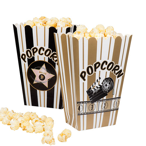 Assorted Hollywood Popcorn Paper Bowls - Pack of 4