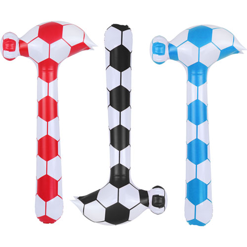 Assorted Inflatable Hammer Football Design 86cm Product Image