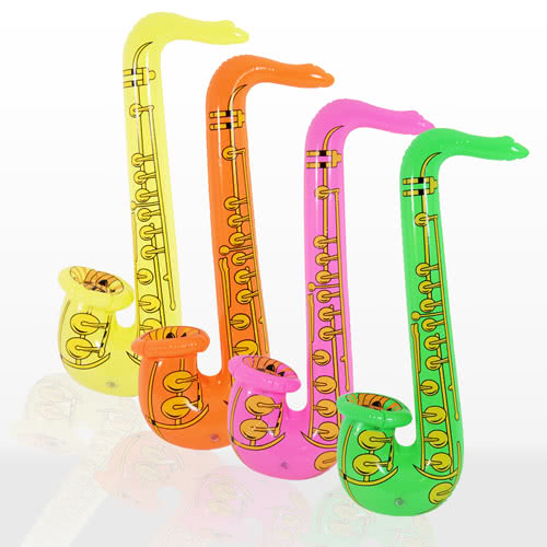 Assorted Inflatable Saxophone - 30 Inches / 76cm Product Image