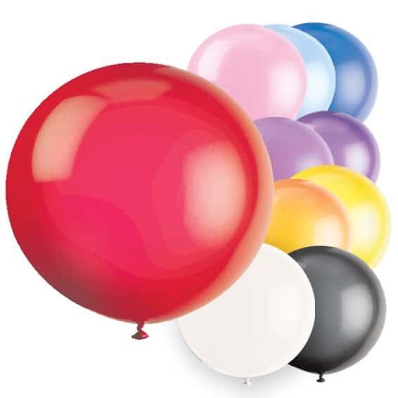 Assorted Jumbo Biodegradable Latex Balloon - 91cm Product Image