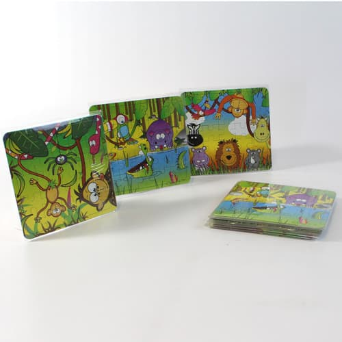 Assorted Jungle Jigsaw Puzzle - Pack of 12 Product Image