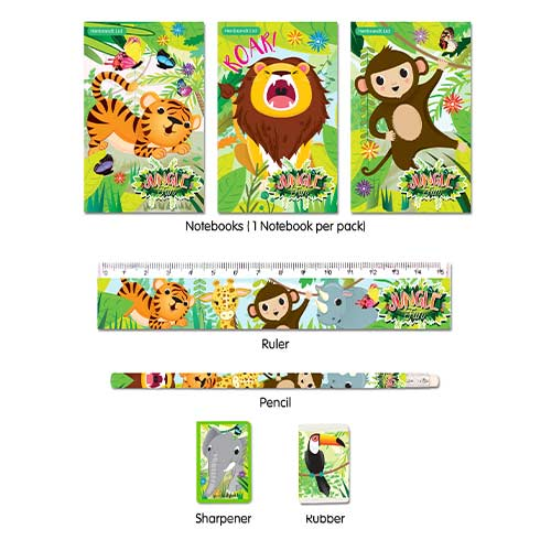 Assorted Jungle Stationery Favour Set Product Image