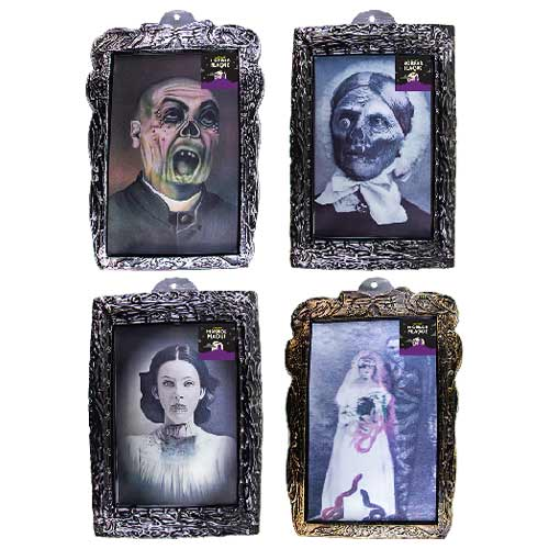 Assorted Lenticular Halloween Holographic Portrait Wall Hanging Decoration 42cm Product Image