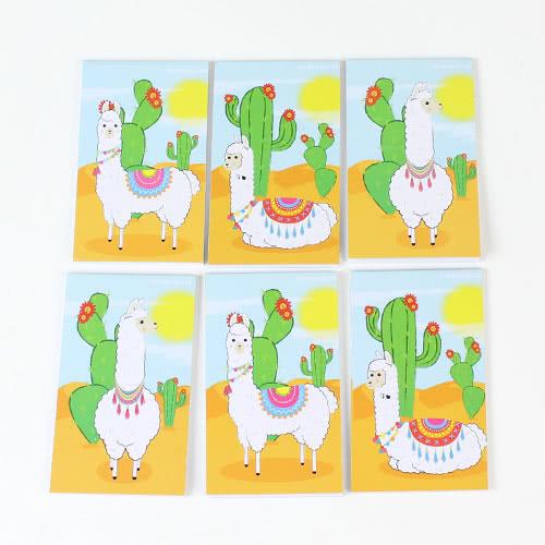 Assorted Llama Mini Notebooks - Pack of 6 Product Image