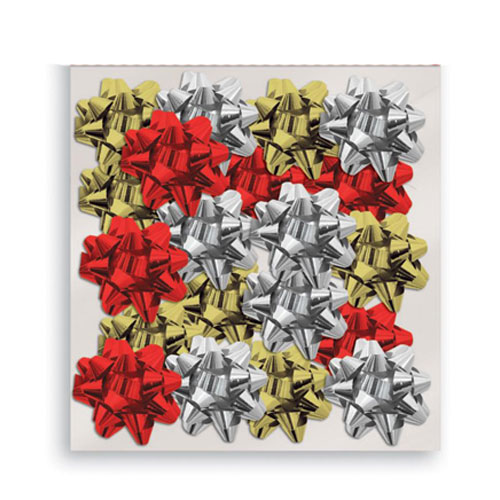 Assorted Metallic Christmas Gift Bows - Pack of 20 Product Image