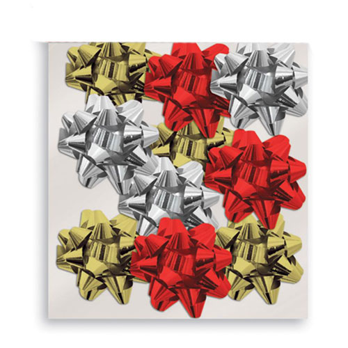 Assorted Metallic Large Christmas Gift Bows - Pack of 10 Product Image