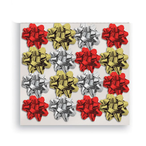 Assorted Mini Glitter Christmas Gift Bows - Pack of 16 Product Image