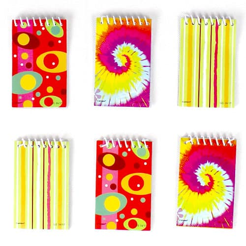 Assorted Mini Spiral Notebooks - Pack of 6 Product Image