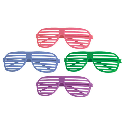 Assorted Neon Shutter Shades - Pack of 4 Product Image