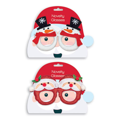 Assorted Novelty Christmas Glasses Fancy Dress Product Image