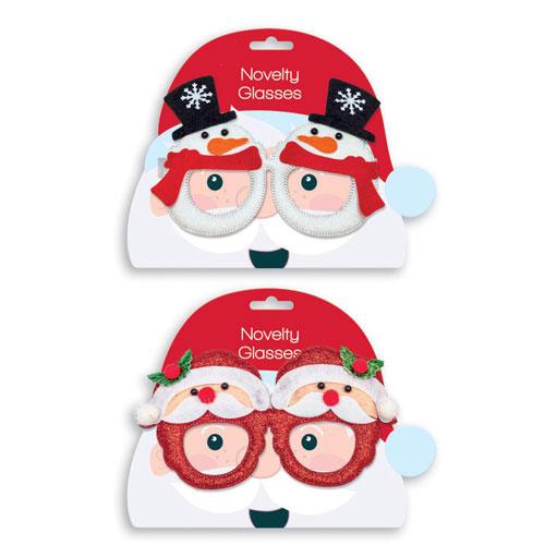 Assorted Novelty Christmas Glasses Fancy Dress
