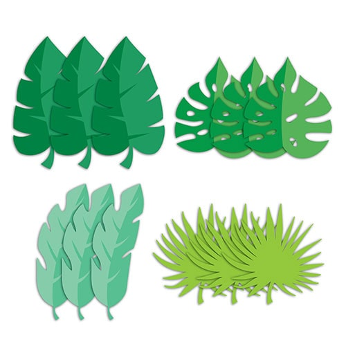 Assorted Palm Leaves Decorative Cutouts - Pack of 12 Product Image