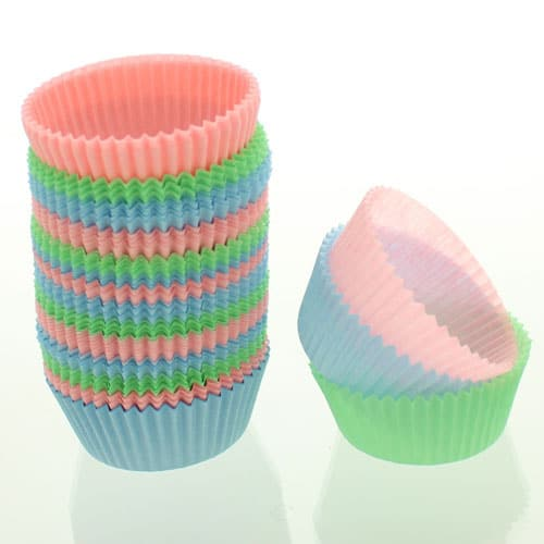 Assorted Pastel Colours Paper Cupcake Cases - Pack of 75