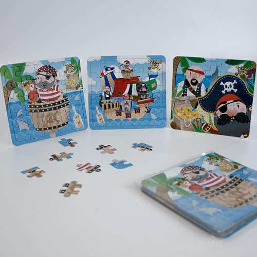 Assorted Pirate Jigsaw Puzzle - Pack of 12