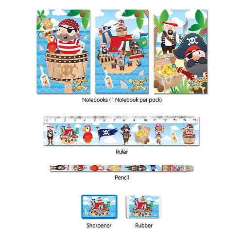 Assorted Pirate Stationery Favour Set Product Image