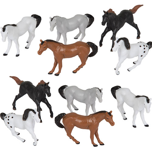 Assorted Plastic Horses Favour Toys - Pack of 10 Product Image