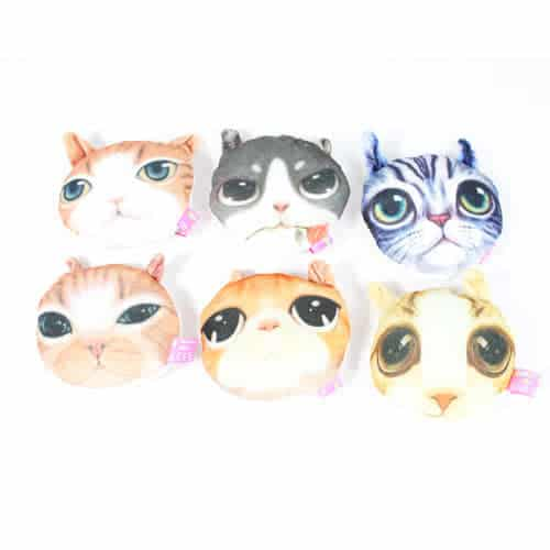 Assorted Printed Cat Cuddly Soft Toy 12cm