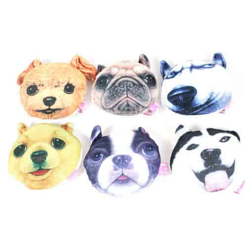 Assorted Printed Dog Cuddly Soft Toy 12cm