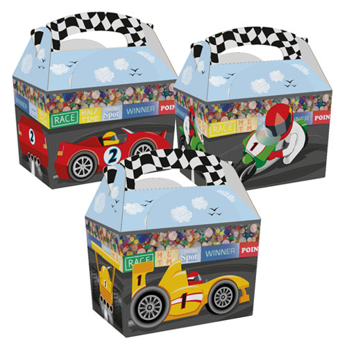 Assorted Race Time Compostable Paper Party Box Product Image