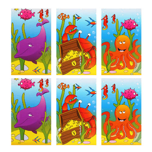 Assorted Sealife Mini Notebooks - Pack of 6 Product Image