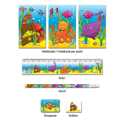 Assorted Sealife Stationery Favour Set Product Image