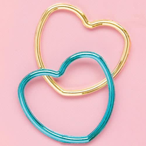 Assorted Metallic Plastic Heart Bracelets - Pack of 12 Product Image