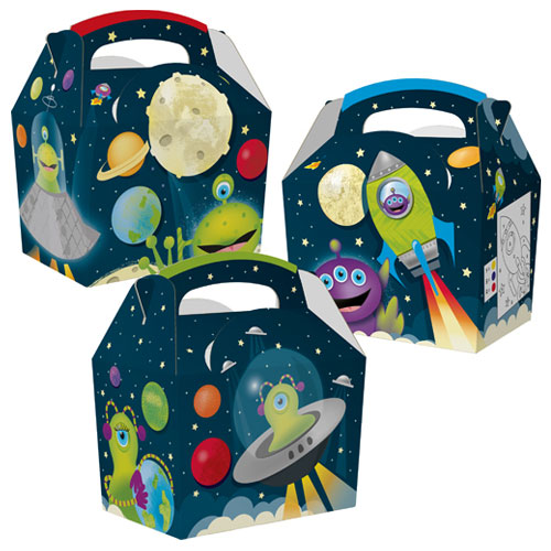 Assorted Space Aliens Compostable Paper Party Box Product Image