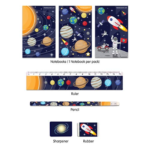 Assorted Space Stationery Favour Set Product Image