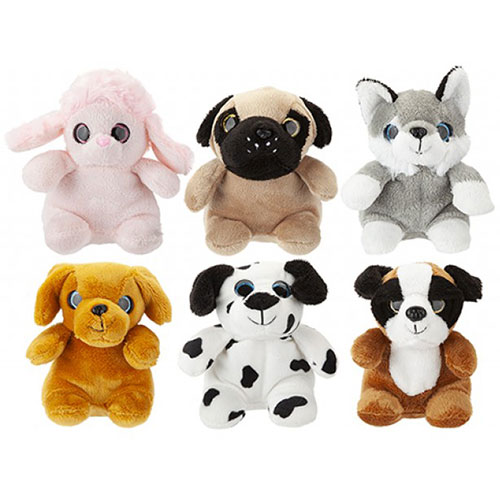 Assorted Sparkling Eyes Puppies Soft Toy