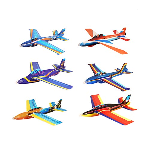 Assorted Super Air Aces Jet Fighter Plane Gliders Toy 50cm