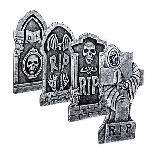Assorted Tombstone RIP Halloween Prop Decoration 41cm