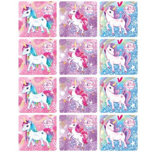 Assorted Unicorn Jigsaw Puzzle - Pack of 12 Product Image