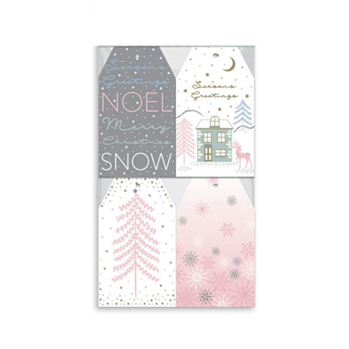 Assorted Winter Blush Christmas Gift Tags - Pack of 20 Product Image