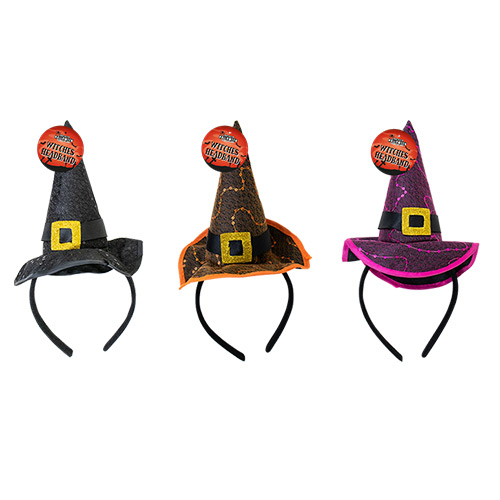 Assorted Witch Hat Headband Halloween Fancy Dress Product Image