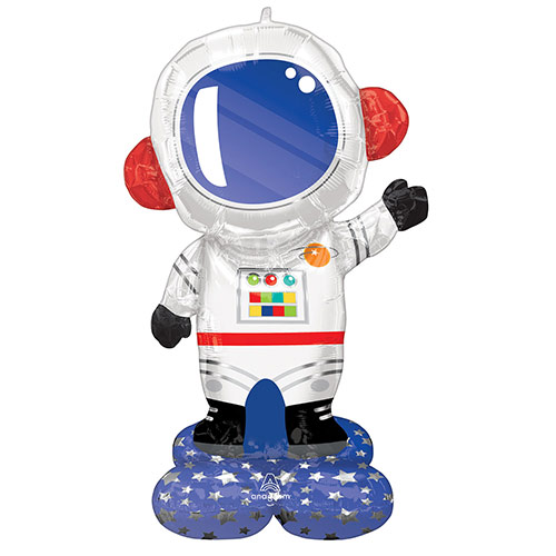Astronaut Airloonz Air Fill Giant Foil Balloon 144cm / 57 in Product Image