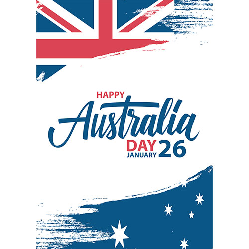Australia Day Brush Effect A2 Poster PVC Party Sign Decoration 59cm x 42cm Product Gallery Image