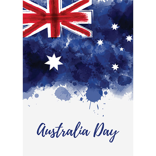 Australia Day Watercolour A2 Poster PVC Party Sign Decoration 59cm x 42cm Product Gallery Image
