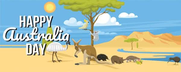 Australian Animals Design Medium Personalised Banner - 6ft x 2.25ft