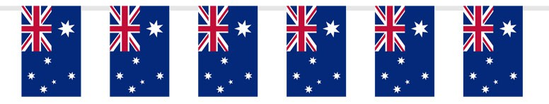 Australian Cloth Flag Bunting - 20 Ft / 6m - 20 Flags