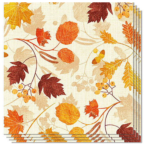 Autumn Leaves Premium Luncheon Napkins 3Ply 33cm - Pack of 20