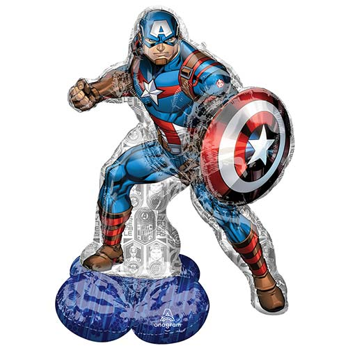 Avengers Captain America Airloonz Air Fill Giant Foil Balloon 147cm / 58 in Product Image