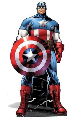 Avengers Captain America Lifesize Cardboard Cutout - 177cm Product Image