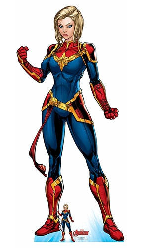Avengers Comics Captain Marvel Superhero Lifesize Cardboard Cutout 185cm