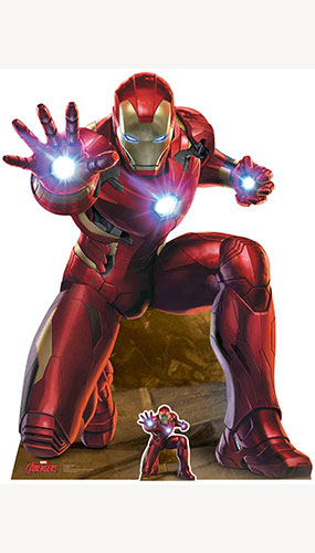 Avengers Iron Man Repulsor Beam Blast Lifesize Cardboard Cutout 133cm