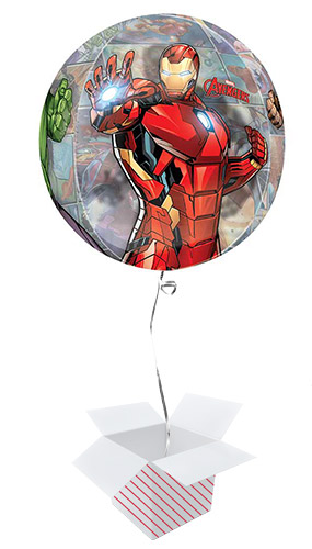 Avengers Powers Unite Orbz Foil Helium Balloon - Inflated Balloon in a Box Product Gallery Image