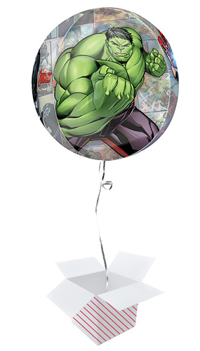 Avengers Powers Unite Orbz Foil Helium Balloon - Inflated Balloon in a Box Product Image